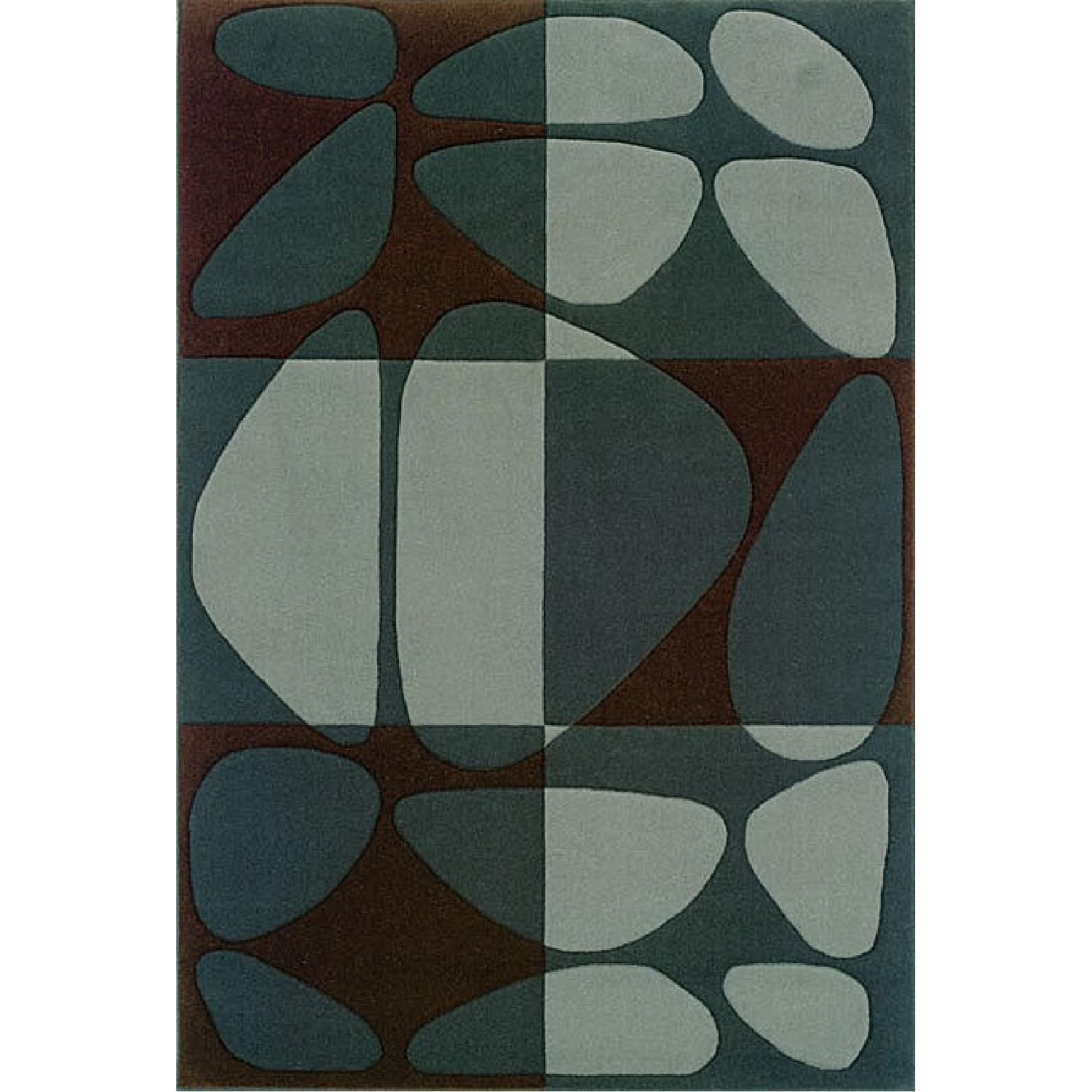 Sierra Collection Contemporary Stones Wool Rug - image-0