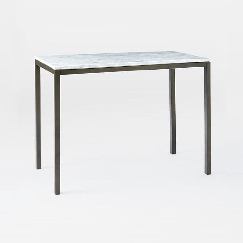 West Elm Faux Marble Bar Table - image-4