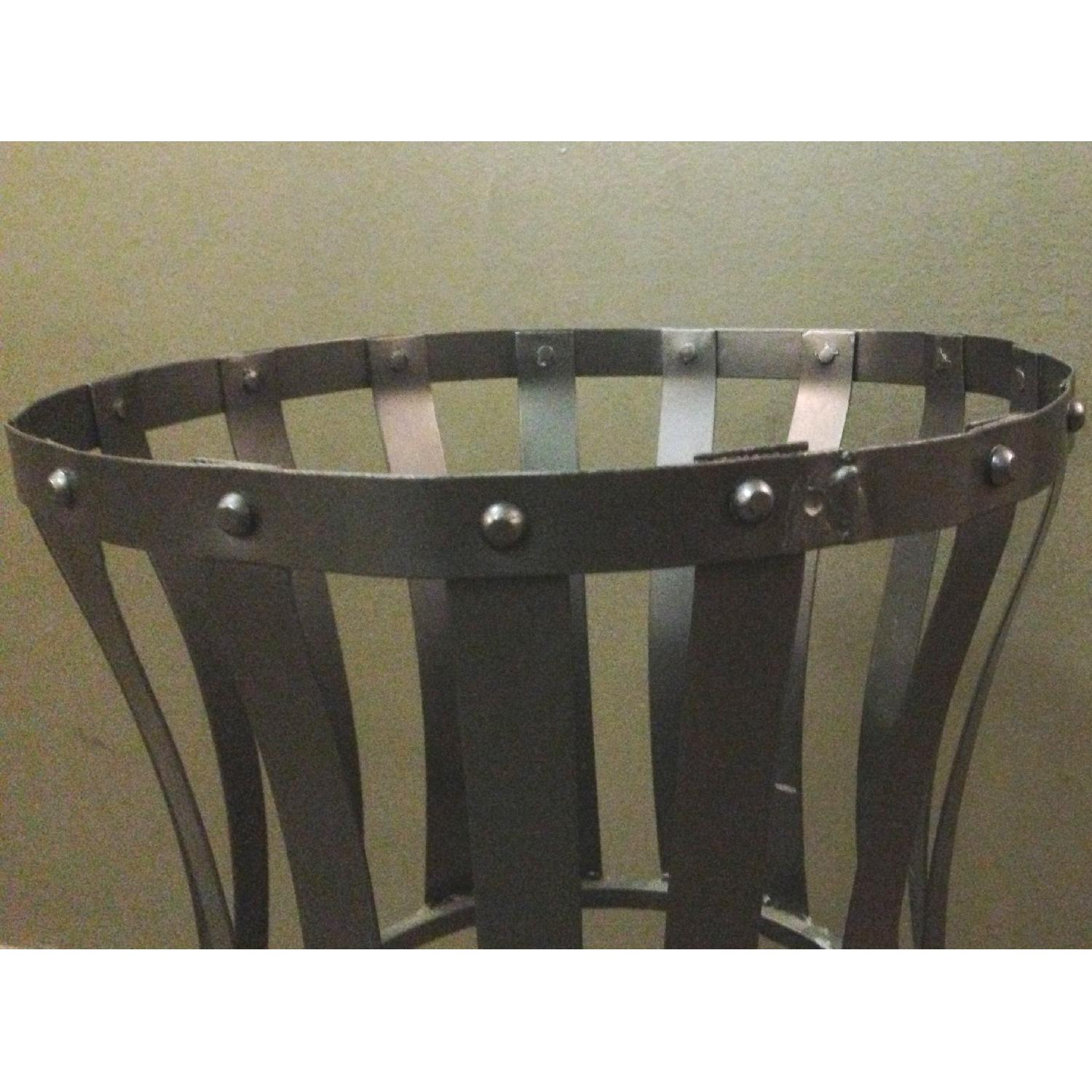Vintage Wrought Iron Rustic Plant Stand w/ Scroll Legs - image-3