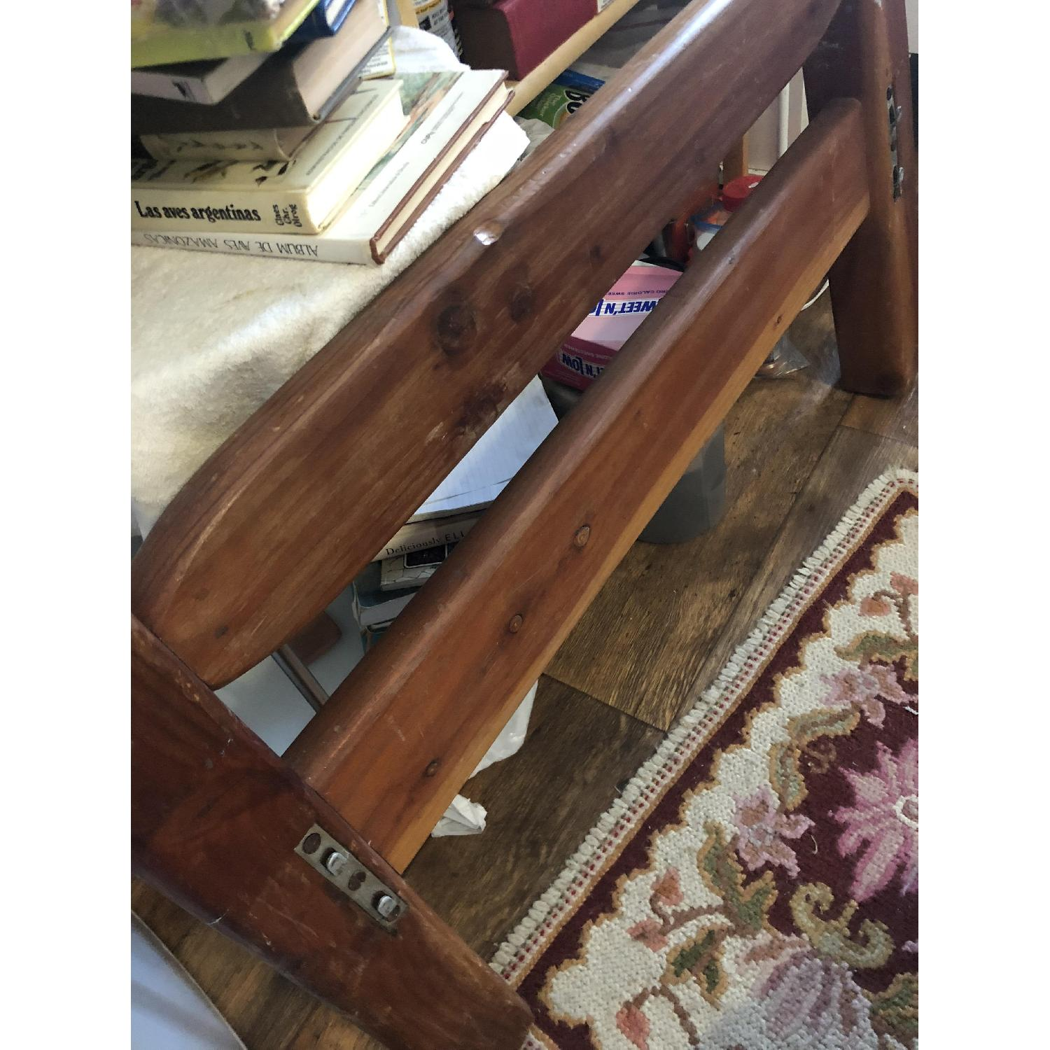 Hand Carved Solid Wood Twin Bed - image-3