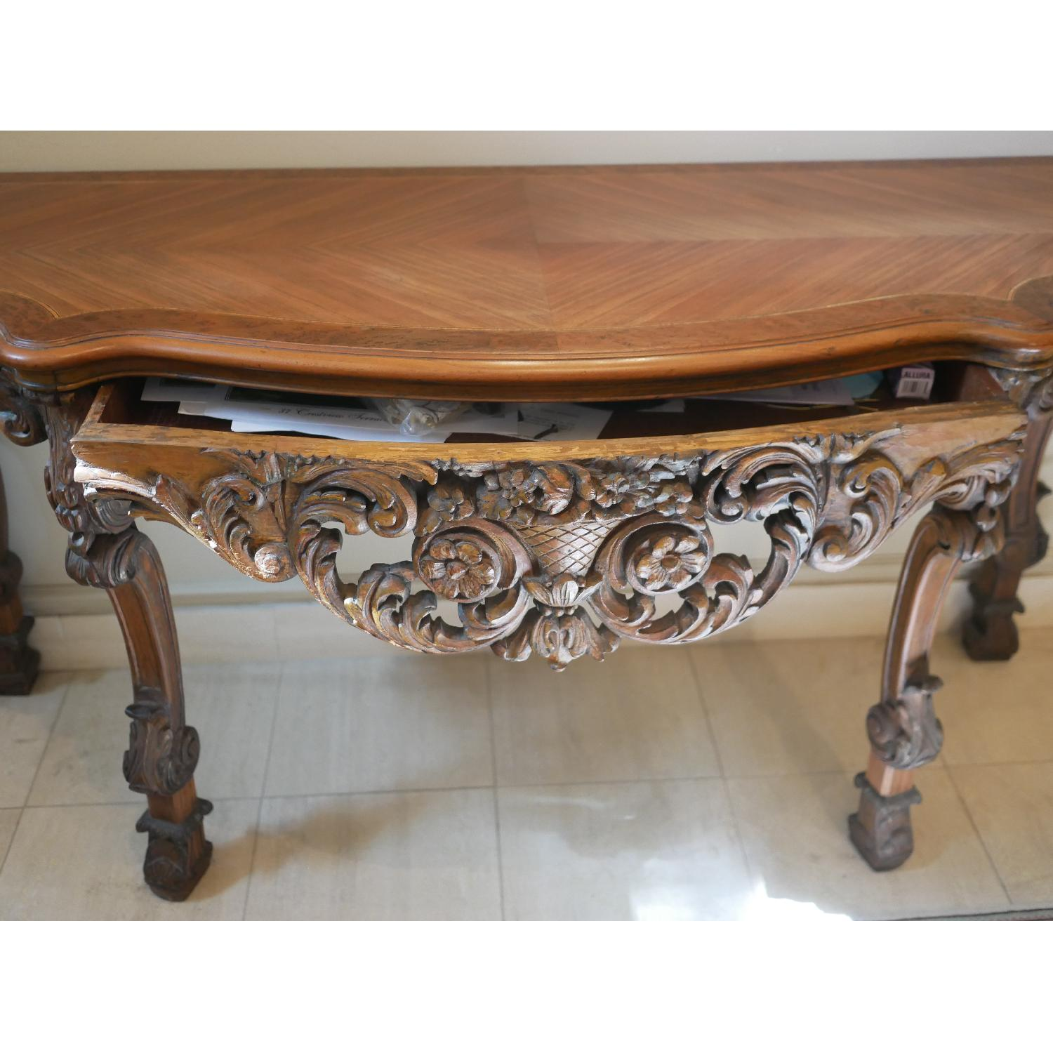 Antique American Console Table - image-8