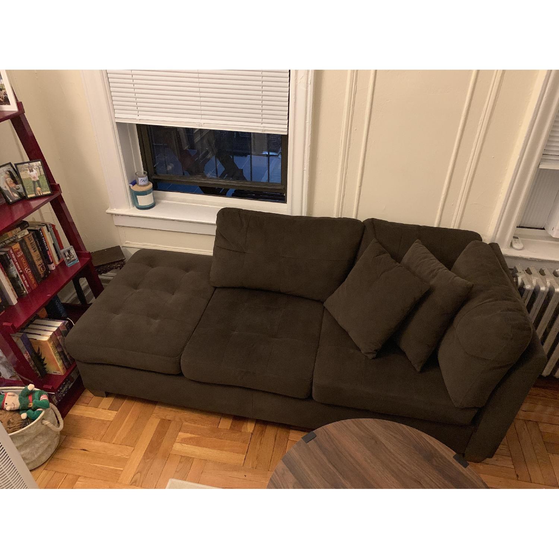 Pham Dark Brown Chaise - image-2