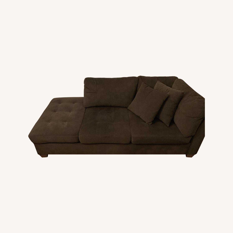 Pham Dark Brown Chaise - image-0