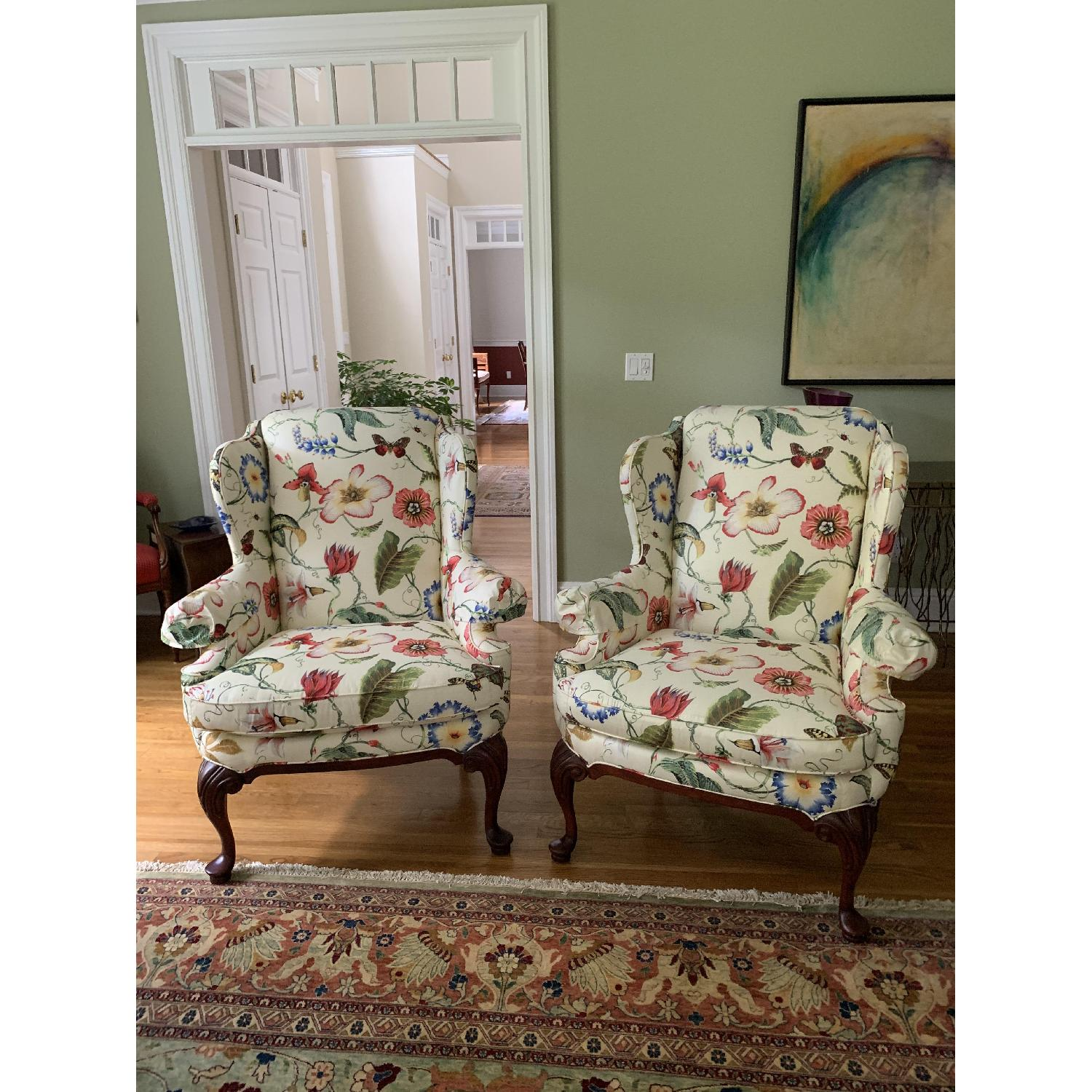 Floral Wing Chair - image-1
