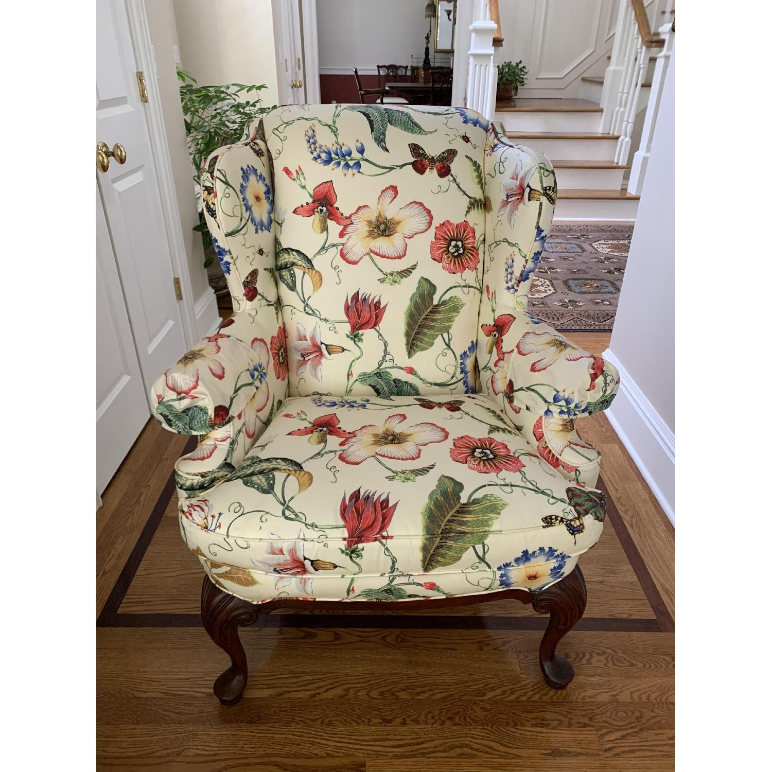 Floral Wing Chair - image-2