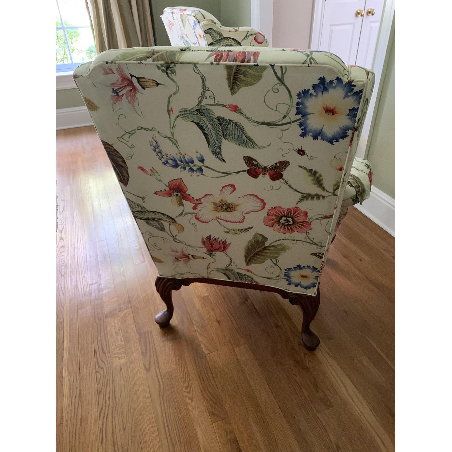 Floral Wing Chair - image-3