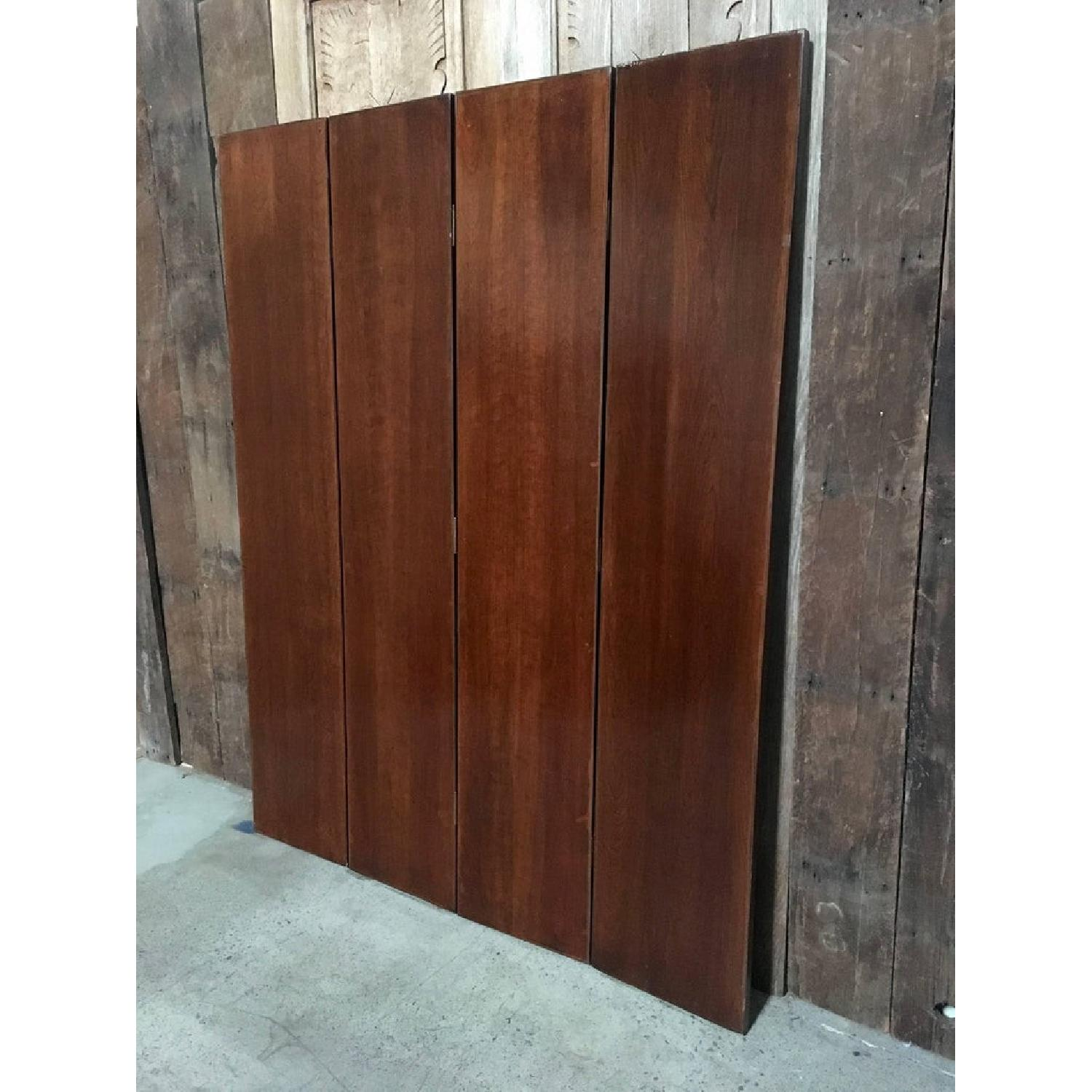 Maitland-Smith Tooled Leather Book Room Divider - image-5