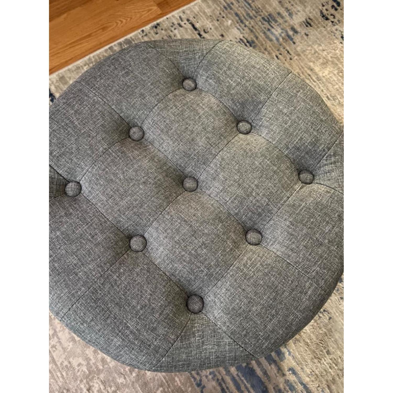 Round Storage Ottoman w/ Removable Lid - image-4