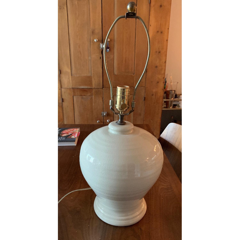 Simon Pearce Ivory Crackle Lamp - image-1