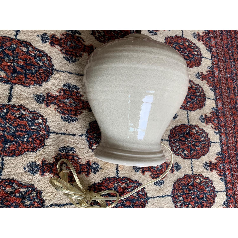 Simon Pearce Ivory Crackle Lamp - image-3