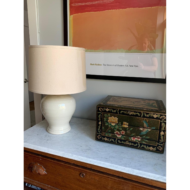 Simon Pearce Ivory Crackle Lamp - image-6