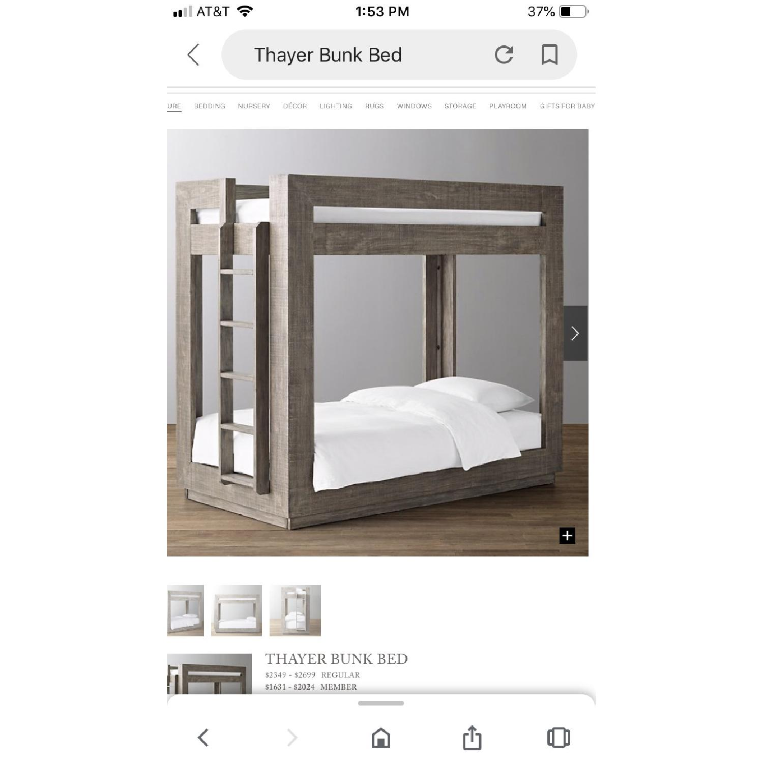 Restoration Hardware Thayer Bunk Bed - image-1