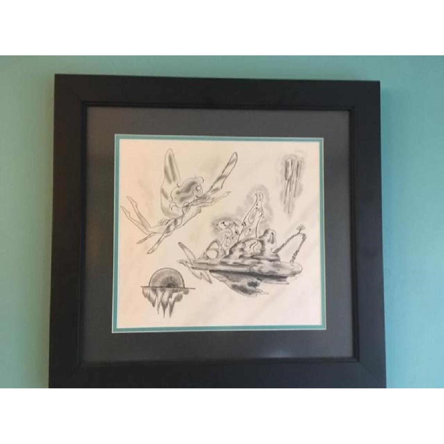 Framed Fairy Charcoal Print - image-3