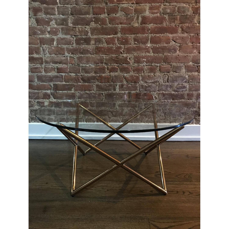 West Elm Metal Spindle Coffee Table Aptdeco