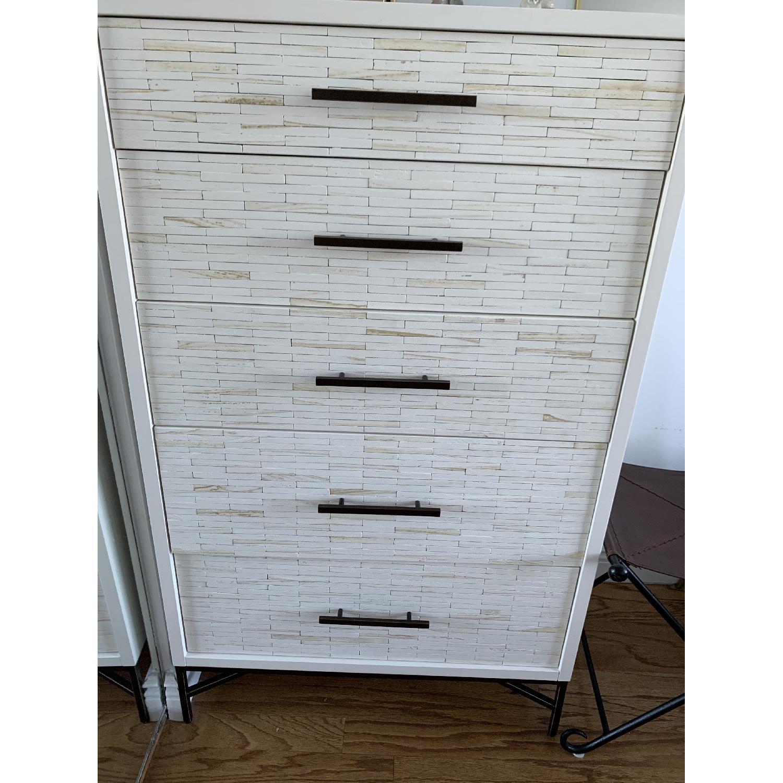 West Elm Wood Tiled 5-Drawer Dresser - image-1