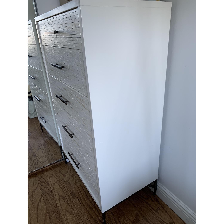 West Elm Wood Tiled 5-Drawer Dresser - image-3