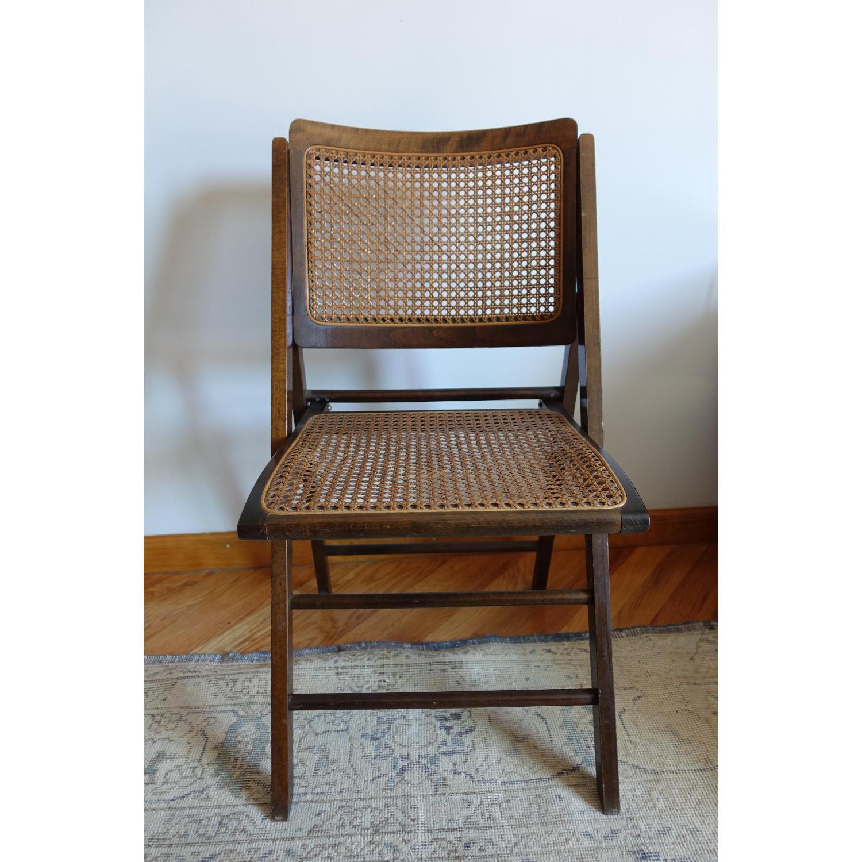 Vintage Folding Wicker Chairs Aptdeco