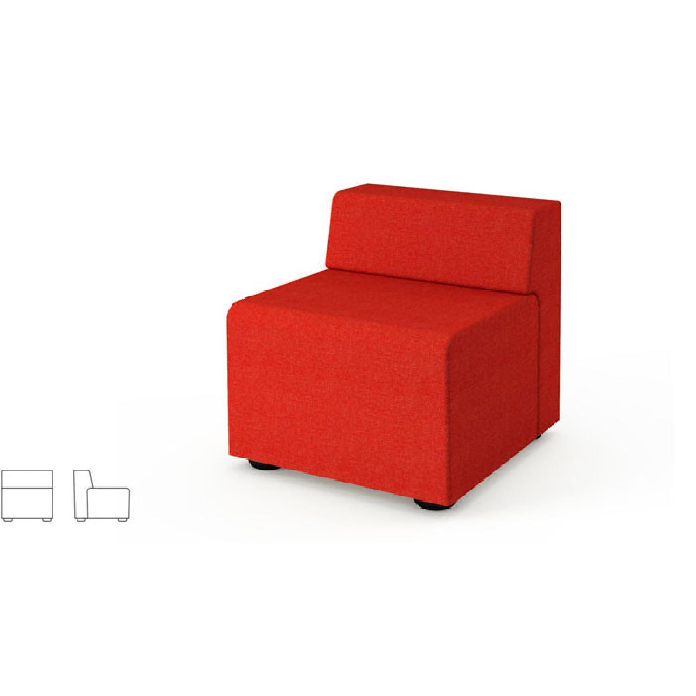 Knoll k. lounge Single Seat Sofa in Stone - image-3