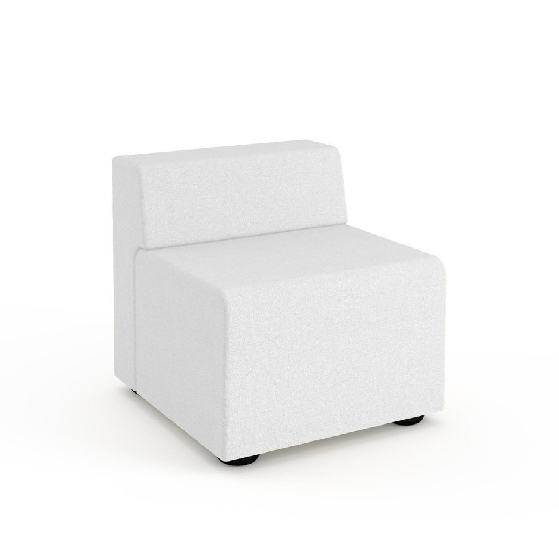 Knoll k. lounge Single Seat Sofa in Stone - image-4