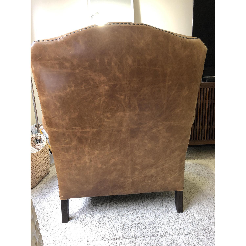 Restoration Hardware Camelback Leather Armchair - image-4