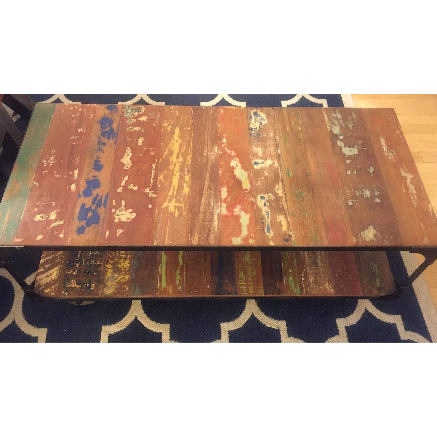 Sterling Place Wood/Iron Frame Coffee Table - image-4