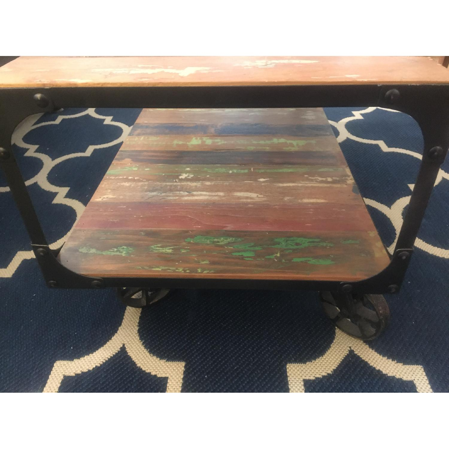 Sterling Place Wood/Iron Frame Coffee Table - image-10