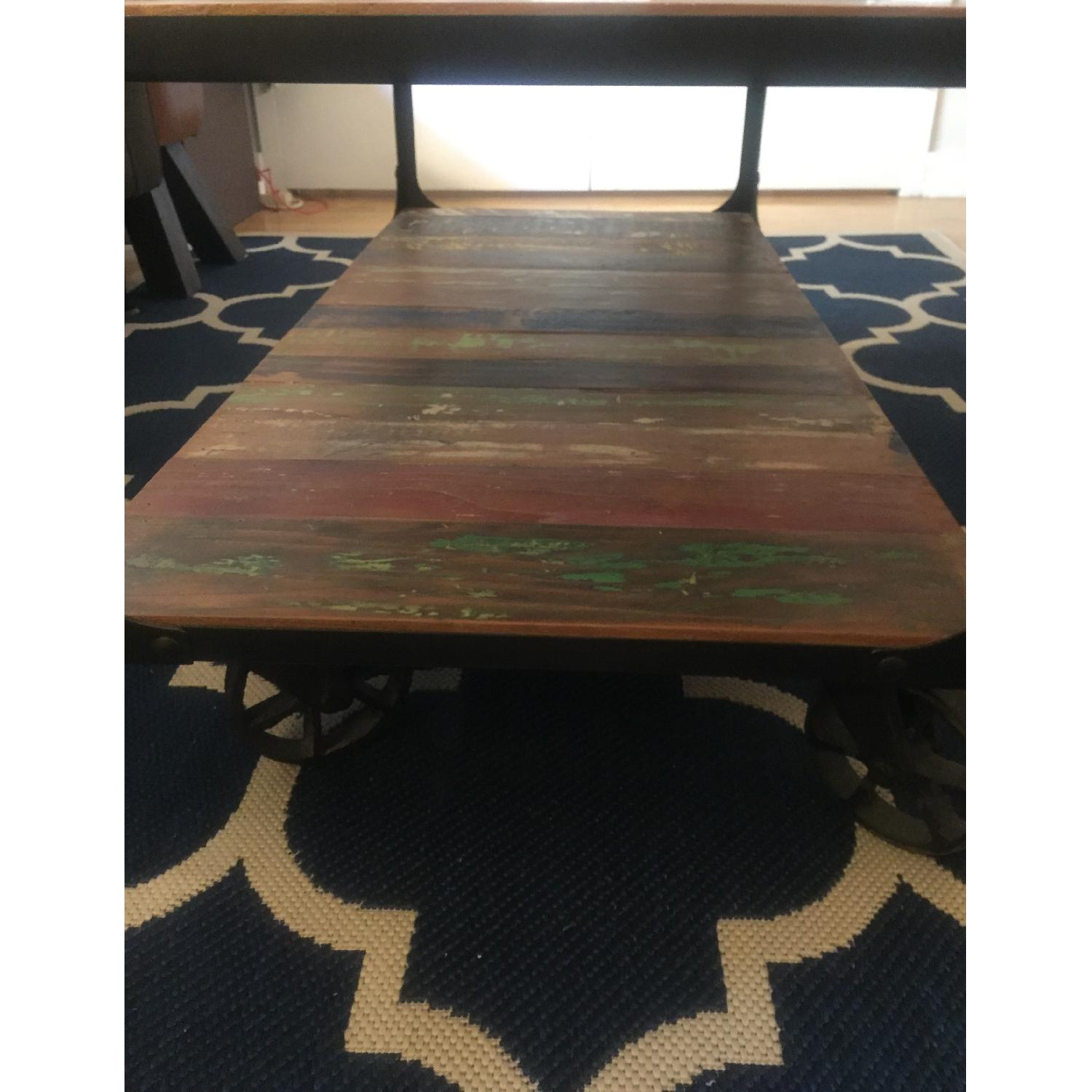 Sterling Place Wood/Iron Frame Coffee Table - image-20