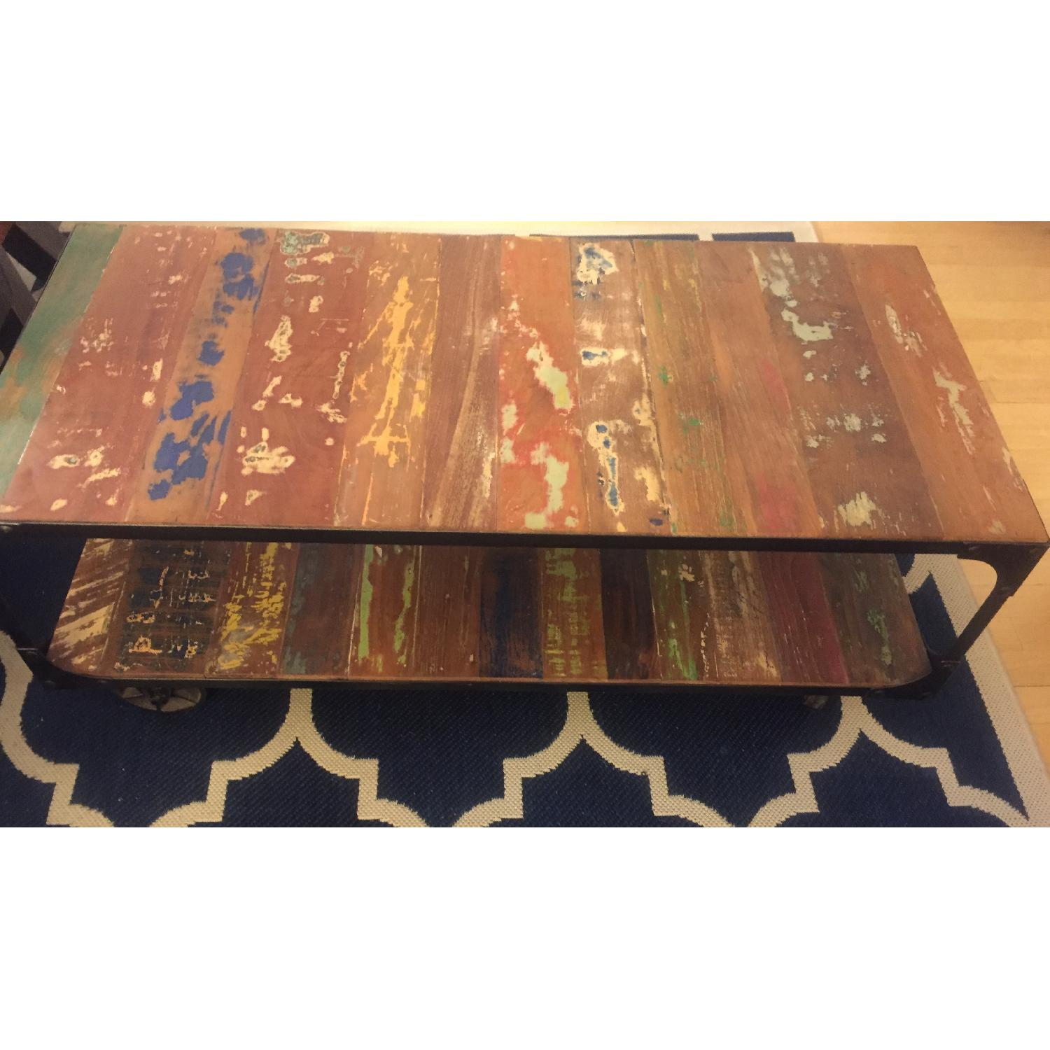 Sterling Place Wood/Iron Frame Coffee Table - image-22