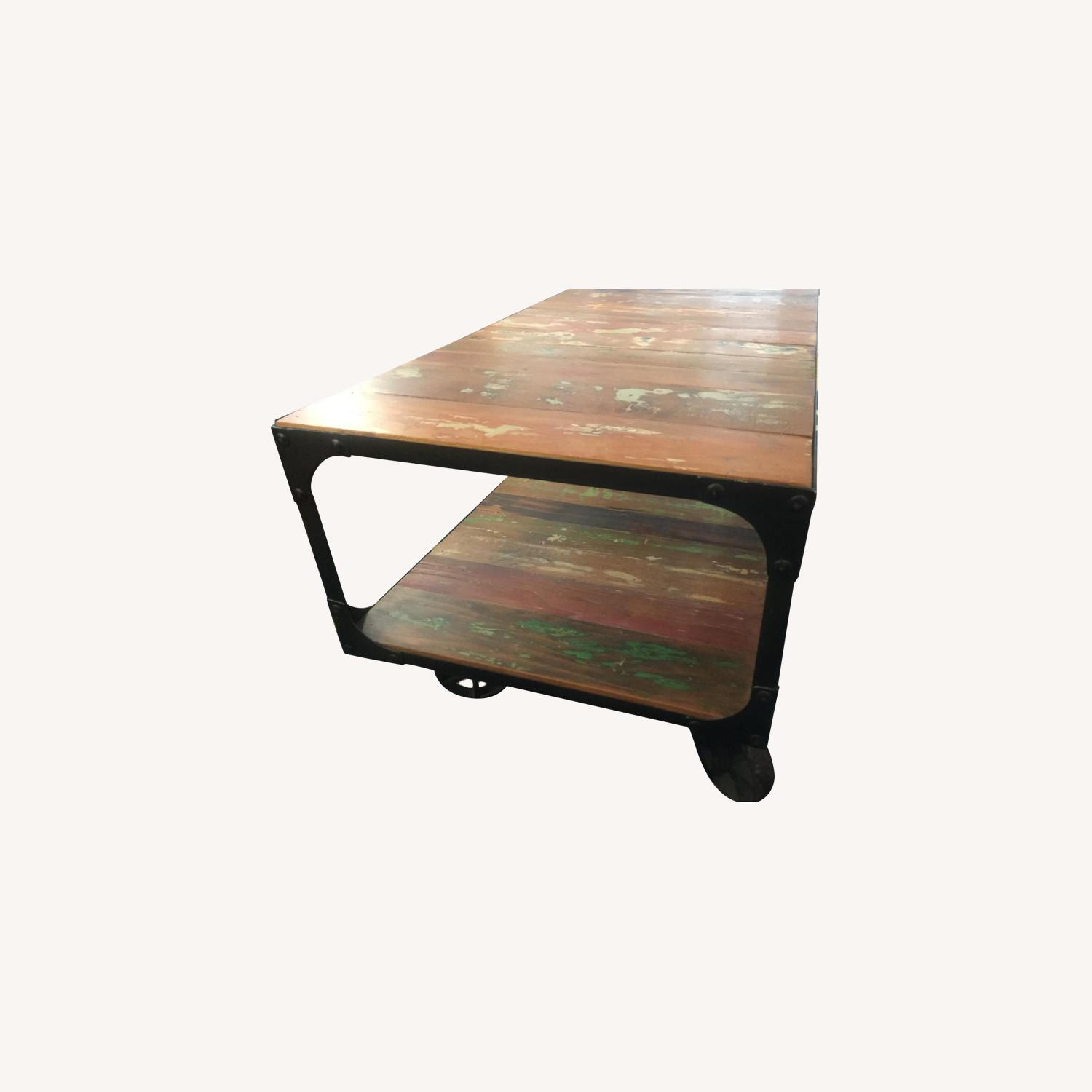 Sterling Place Wood/Iron Frame Coffee Table - image-0