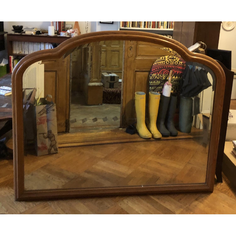 Vintage Wood Frame Mirror - image-1