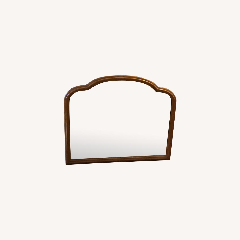 Vintage Wood Frame Mirror - image-0