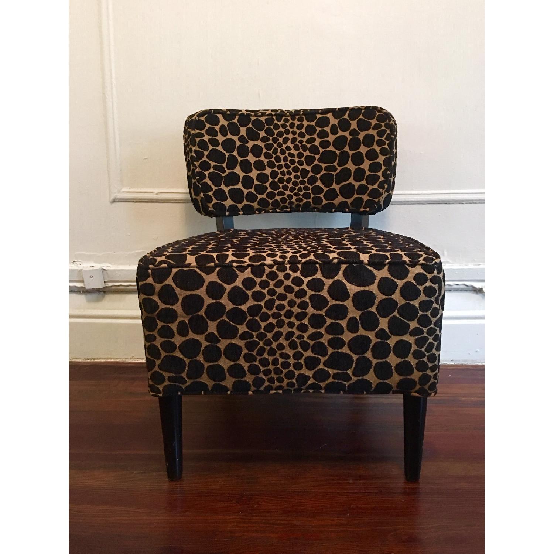 Vintage Leopard Accent Chair - image-1