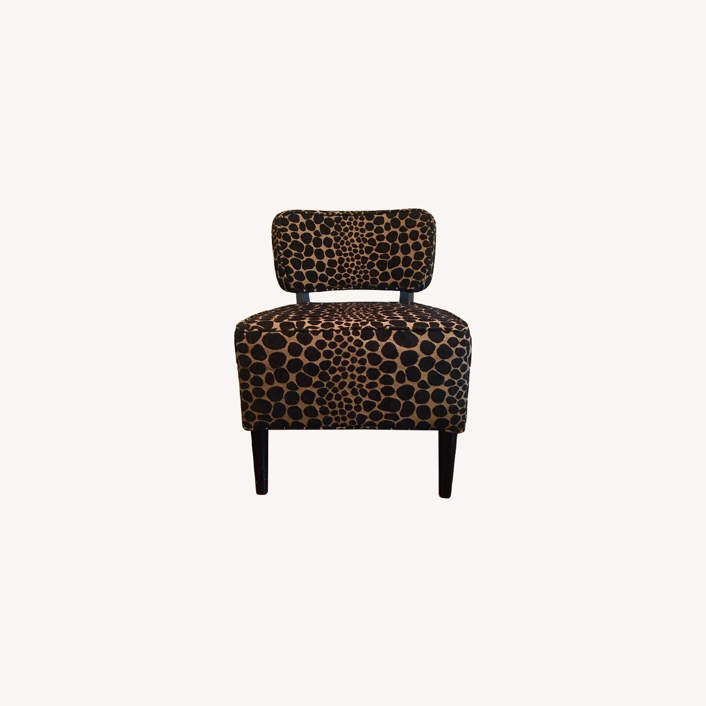 Vintage Leopard Accent Chair - image-0