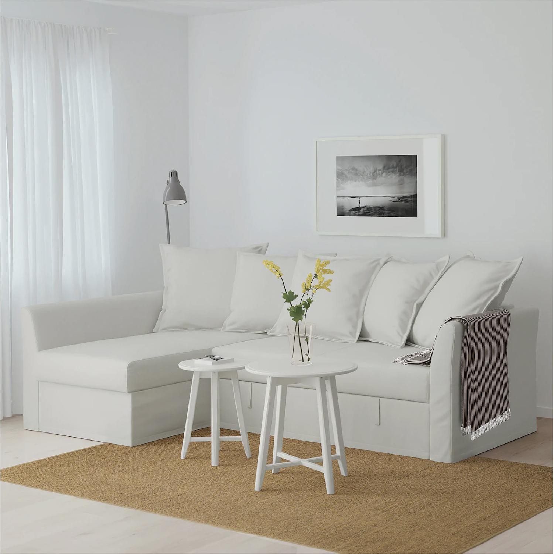 Ikea Holmsund Sleeper Sectional Sofa in Orrsta Light Grey - image-3