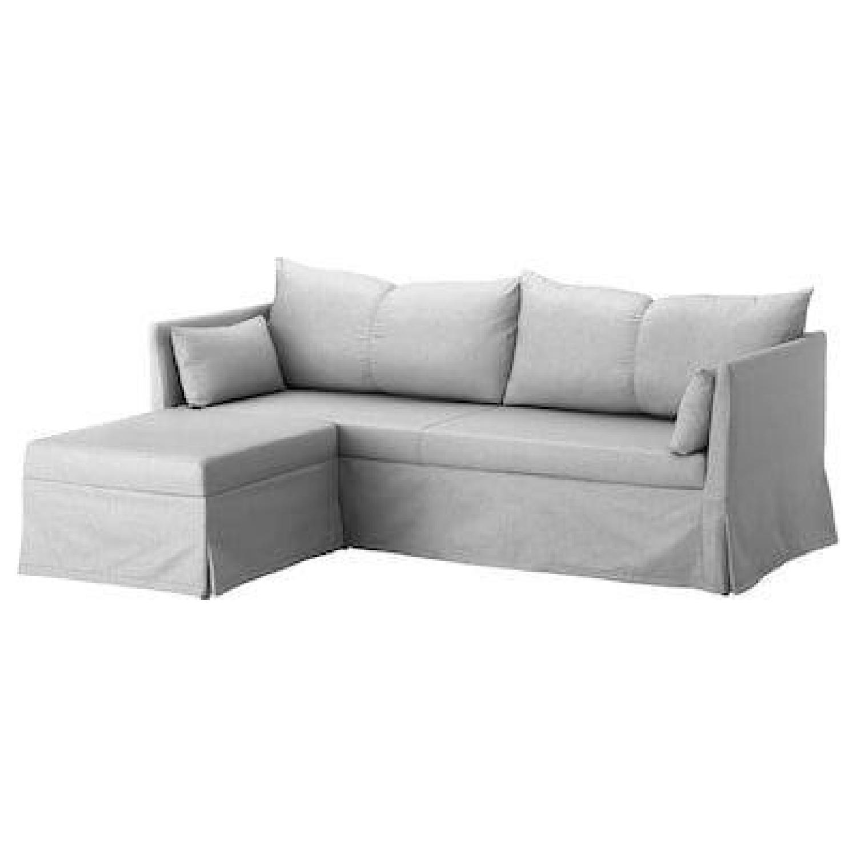 Ikea Holmsund Sleeper Sectional Sofa in Orrsta Light Grey - image-6