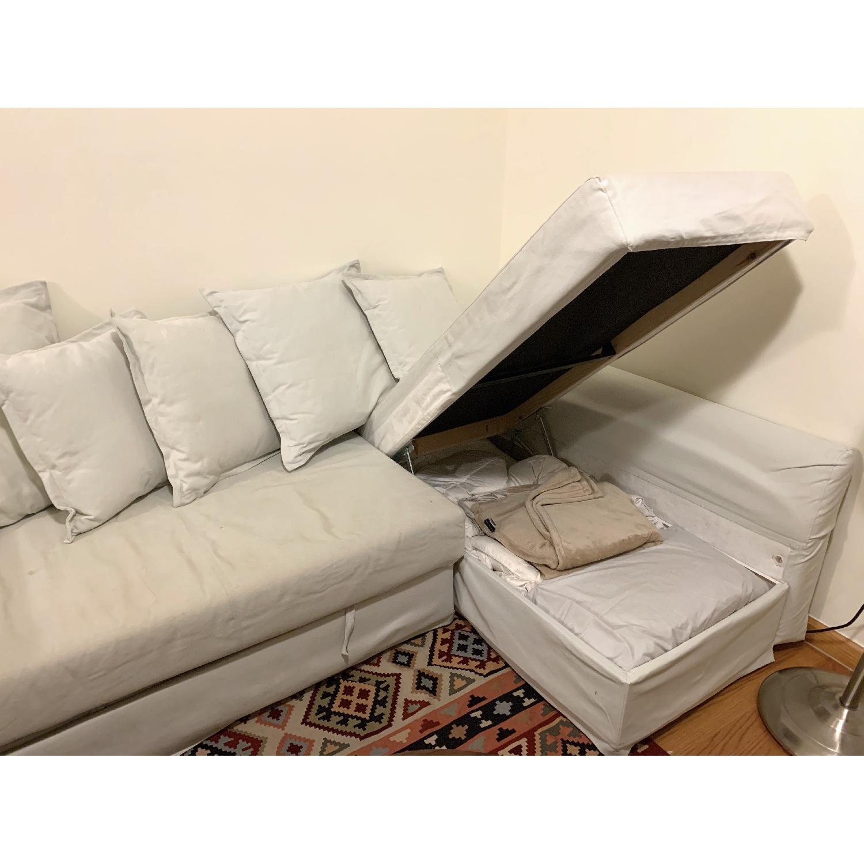 Ikea Holmsund Sleeper Sectional Sofa in Orrsta Light Grey - image-7