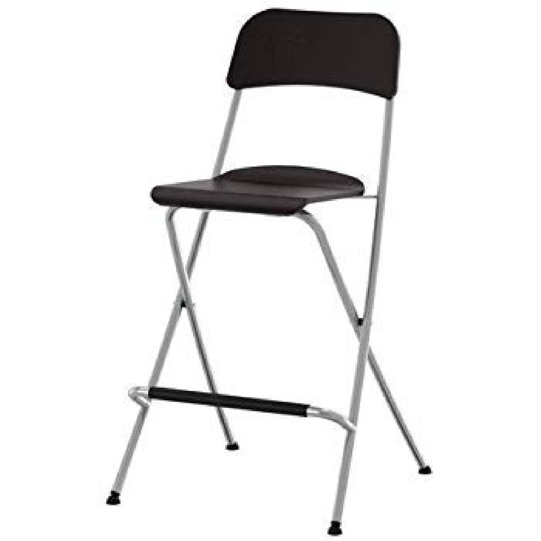 Ikea Franklin Bar Stools w/ Backrest - image-1