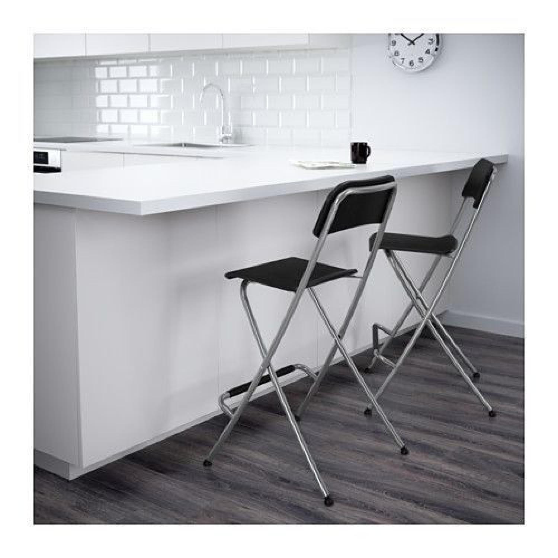 Ikea Franklin Bar Stools w/ Backrest - image-2