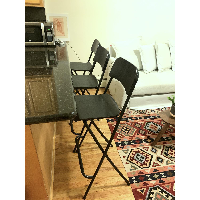 Ikea Franklin Bar Stools w/ Backrest - image-0
