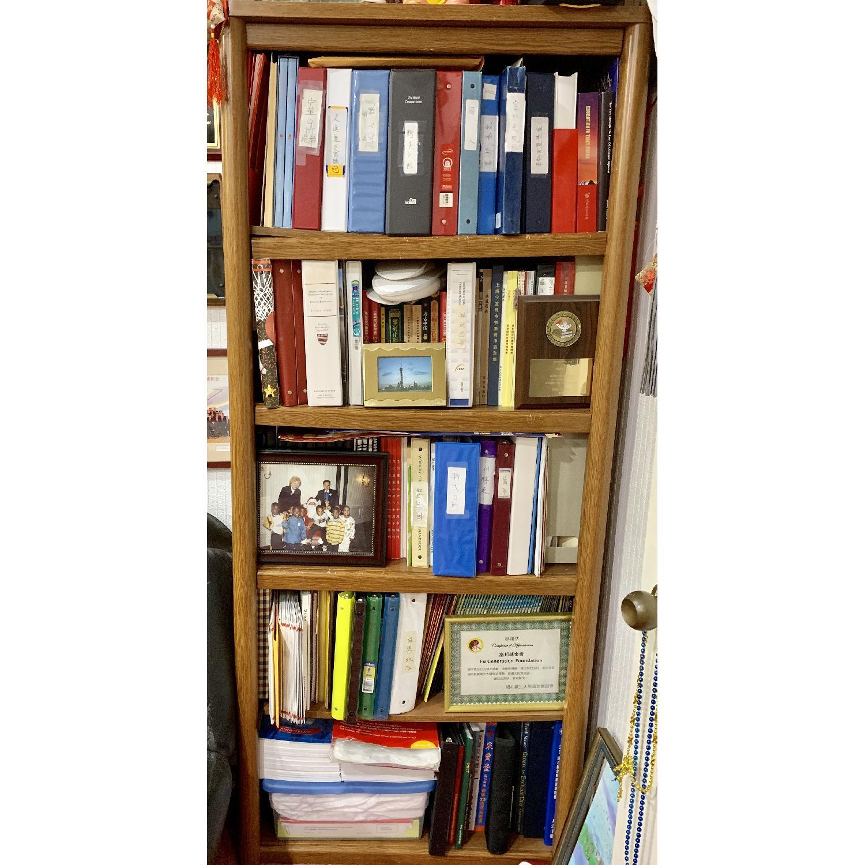 Wood Bookcase w/ 5 Shelves - image-1