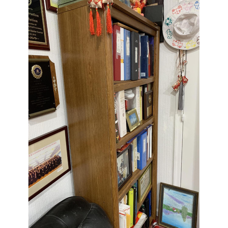 Wood Bookcase w/ 5 Shelves - image-2