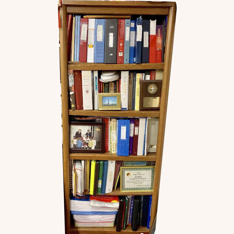 Wood Bookcase w/ 5 Shelves - image-0