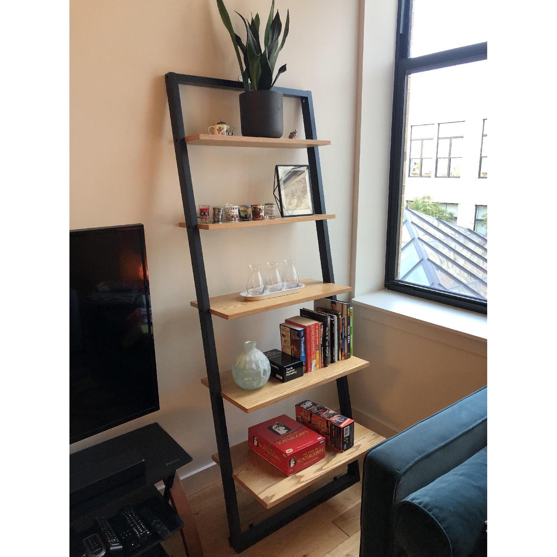 Mid Century Leaning Ladder Shelves - image-1