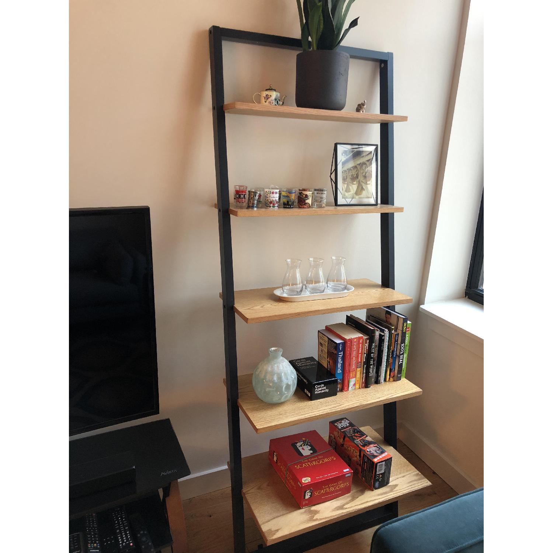 Mid Century Leaning Ladder Shelves
