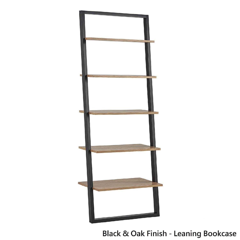 Mid Century Leaning Ladder Shelves - image-4