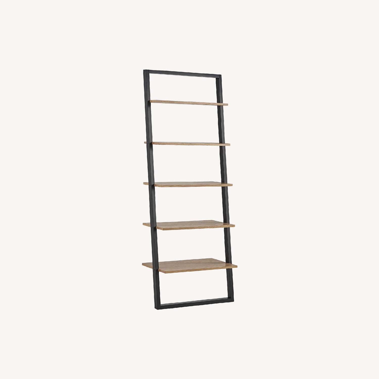 Mid Century Leaning Ladder Shelves - image-0