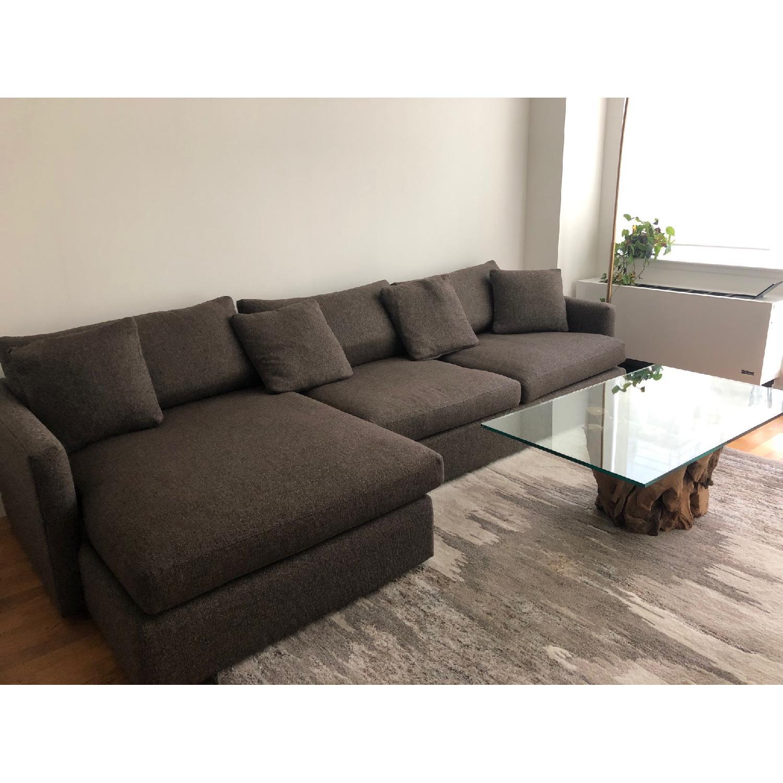 Crate & Barrel Lounge II 2-Piece Sectional Sofa - image-1