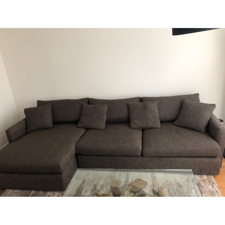 Crate & Barrel Lounge II 2-Piece Sectional Sofa - image-4