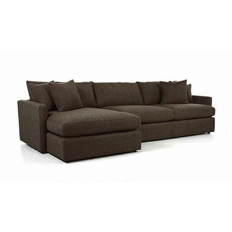 Crate & Barrel Lounge II 2-Piece Sectional Sofa - image-0