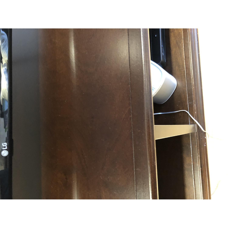 Jordan's Dark Brown Wooden Media Console - image-2